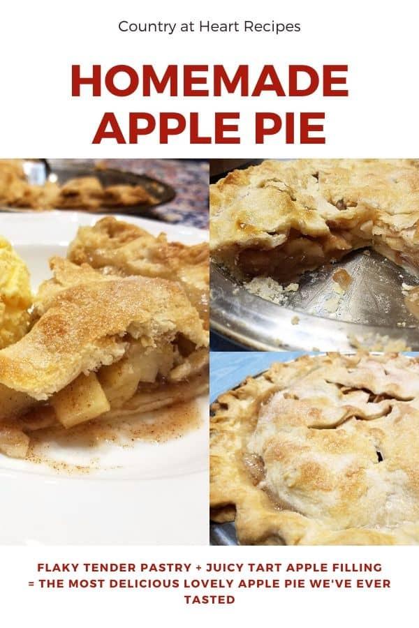 Pinterest Pin - Homemade Apple Pie