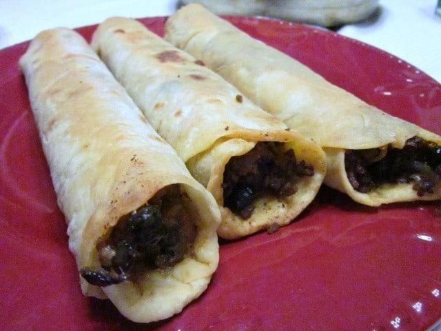 Black Bean Beef Flautas