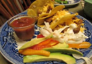 Fish Tacos with Salsa and Cheese