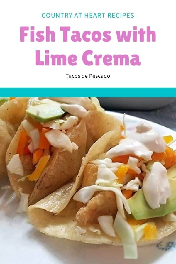 Pinterest Pin - Fish Tacos with Lime Crema