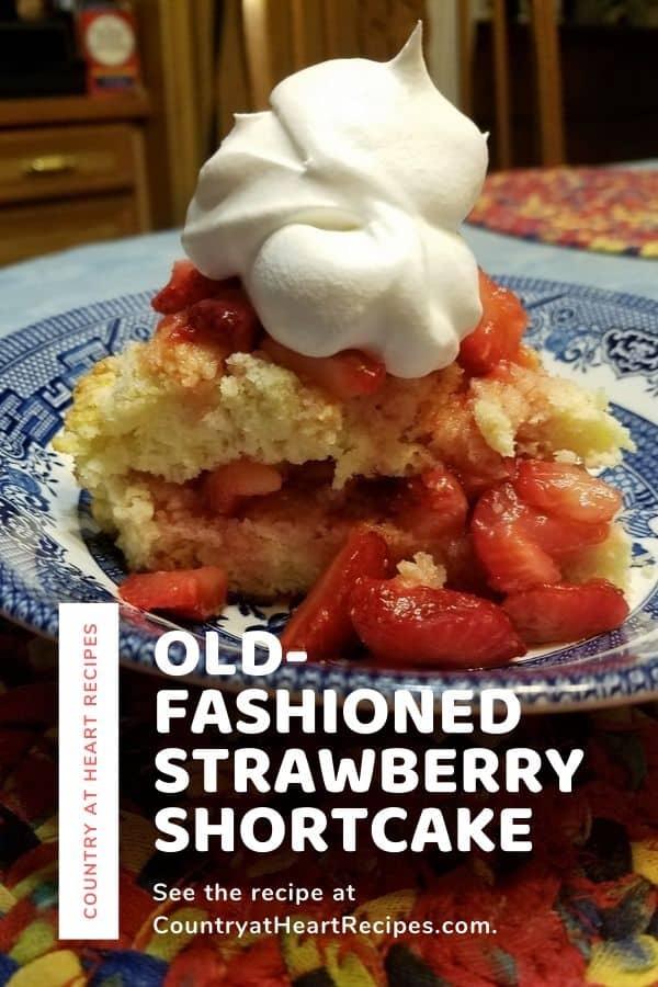 Pinterest Pin - Old-Fashioned Strawberry Shortcake