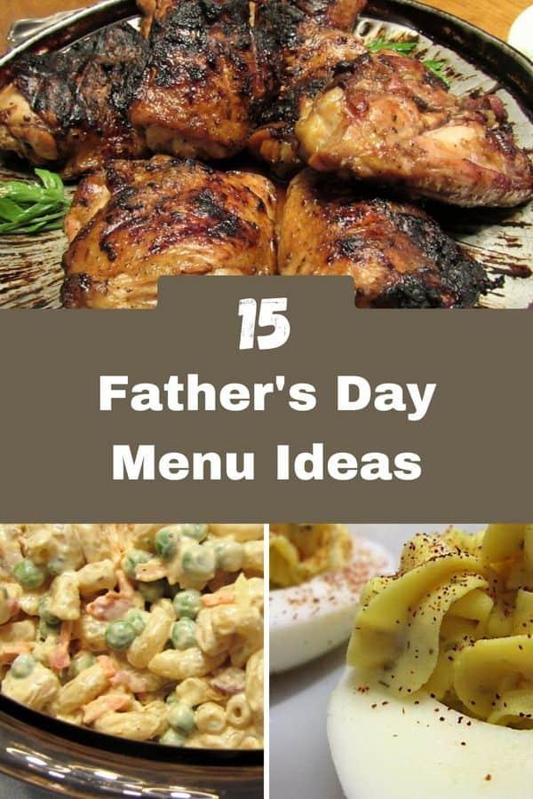 pinterest pin fathers day menu ideas