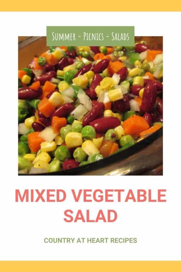 Pinterest Pin - Mixed Vegetable Salad