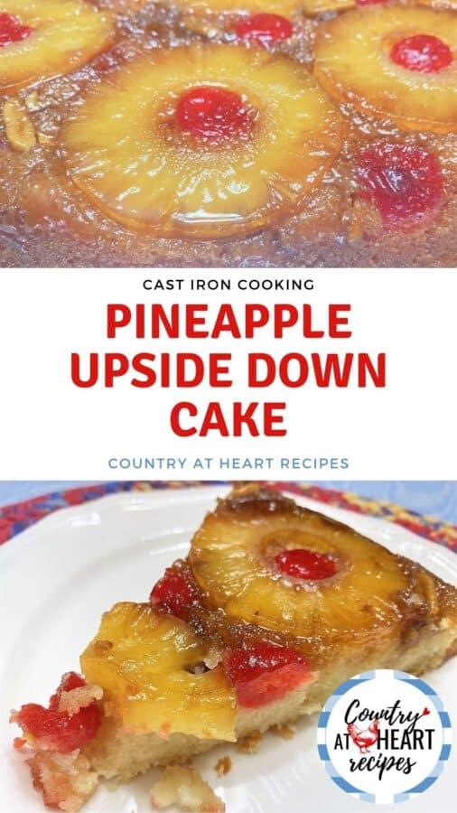Pinterest Pin - Pineapple Upside Down Cake