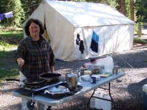 Outside view of our camp - Camping Menu Ideas
