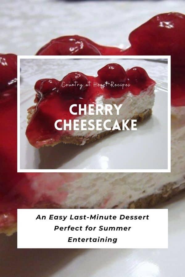 Pinterest Pin - Cherry Cheesecake