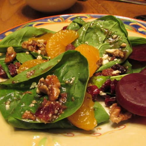 Recipe for Spinach Beet Salad