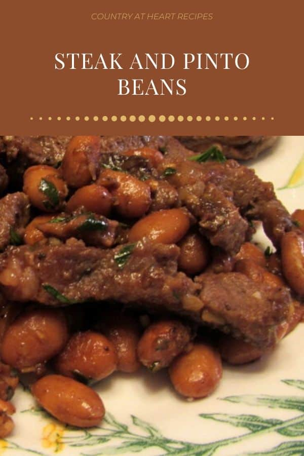 Pinterest Pin - Steak and Pinto Beans