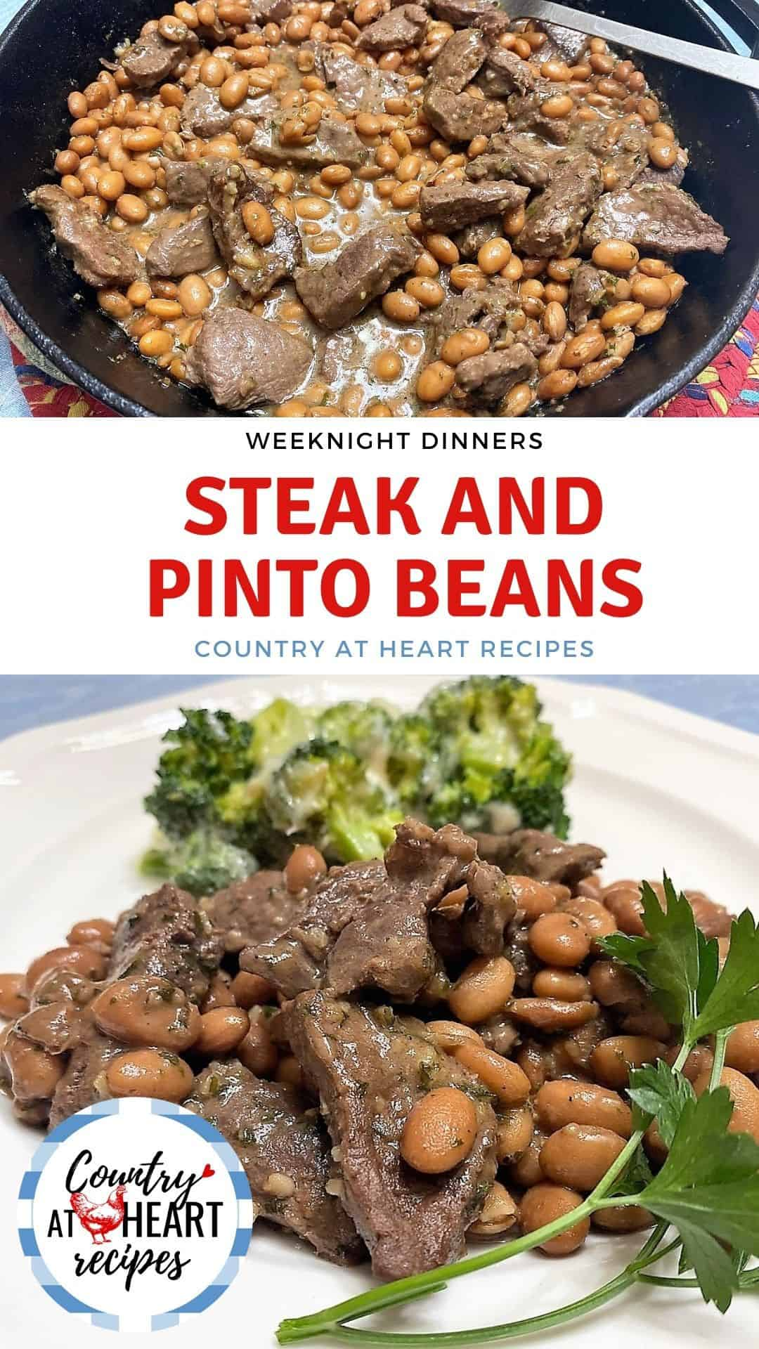 Steak and Pinto Beans