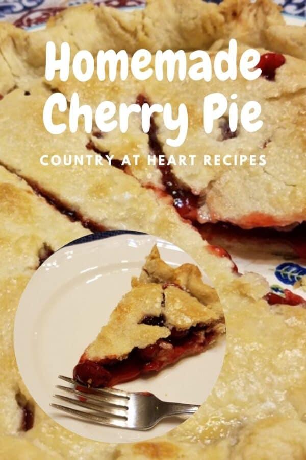 Pinterest Pin - Homemade Cherry Pie