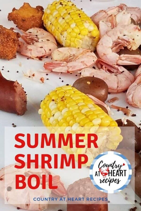Pinterest Pin - Hosting a Summer Shrimp Boil
