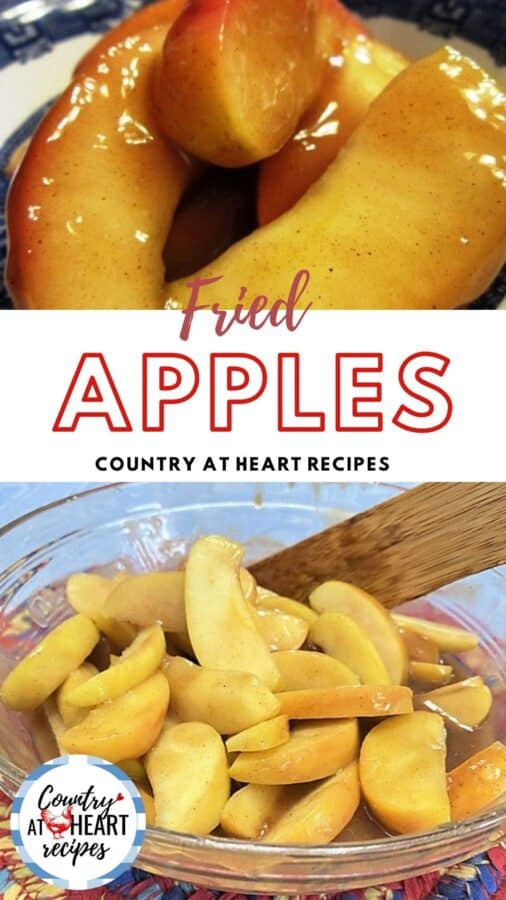 Pinterest Pin - Fried Apples