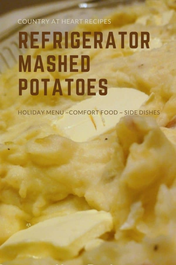 Pinterest Pin - Refrigerator Mashed Potatoes