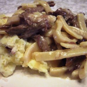 Recipe for Roast Beef and Noodles
