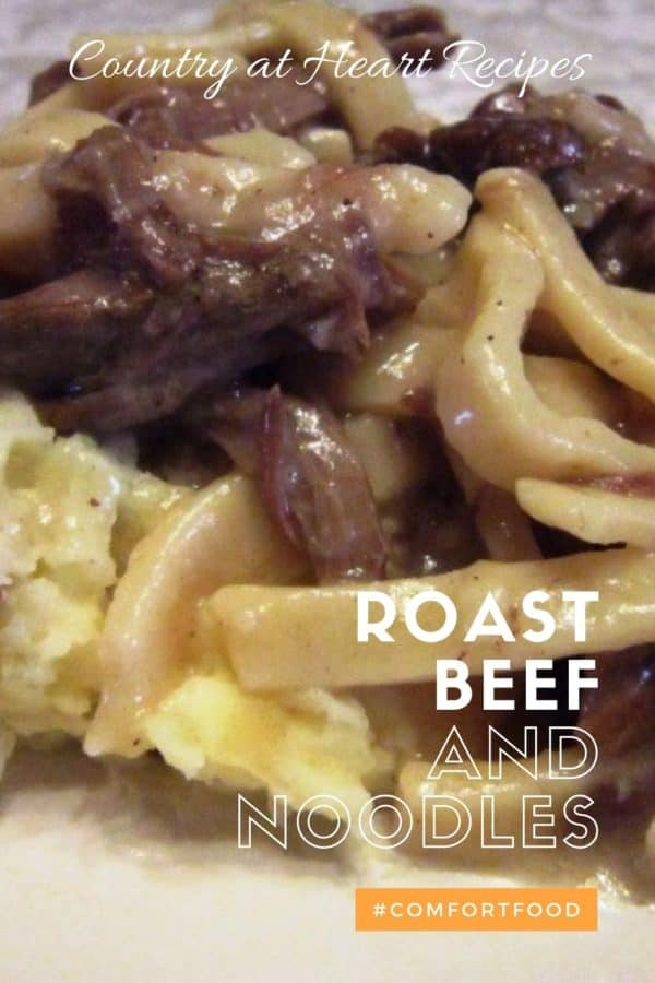 Pinterest Pin - Roast Beef and Noodles