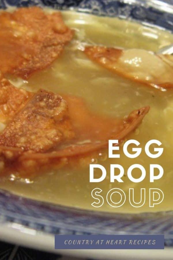 Pinterest Post - Easy Egg Drop Soup