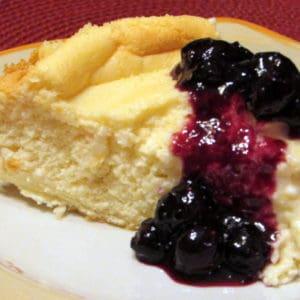 Italian Ricotta Cheesecake with Blueberries