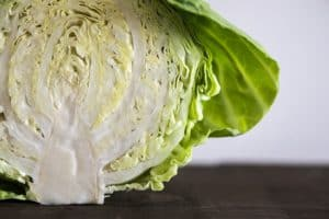 Cutting Cabbage into Wedges