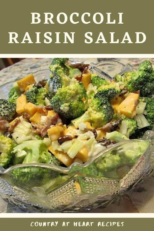 Pinterest Pin - Broccoli Raisin Salad