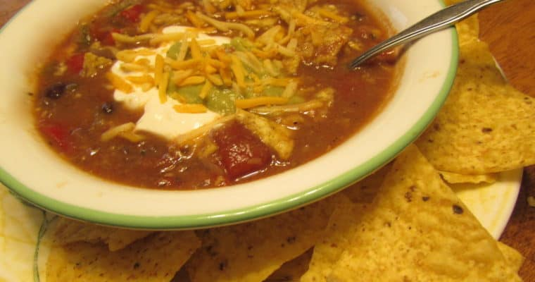 Slow-Cooked Tortilla Chicken Soup