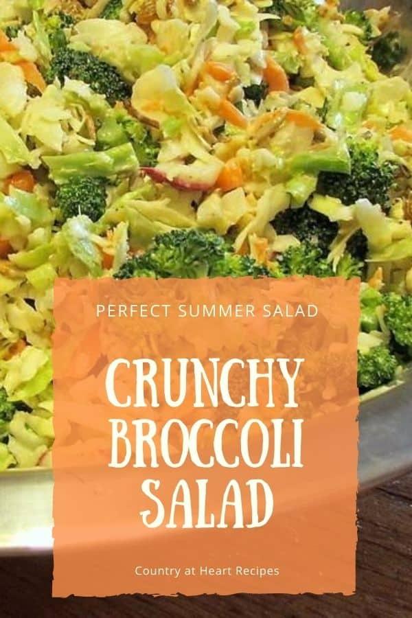 Pinterest Pin - Crunchy Broccoli Salad