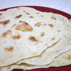 Recipe for Flour Tortillas