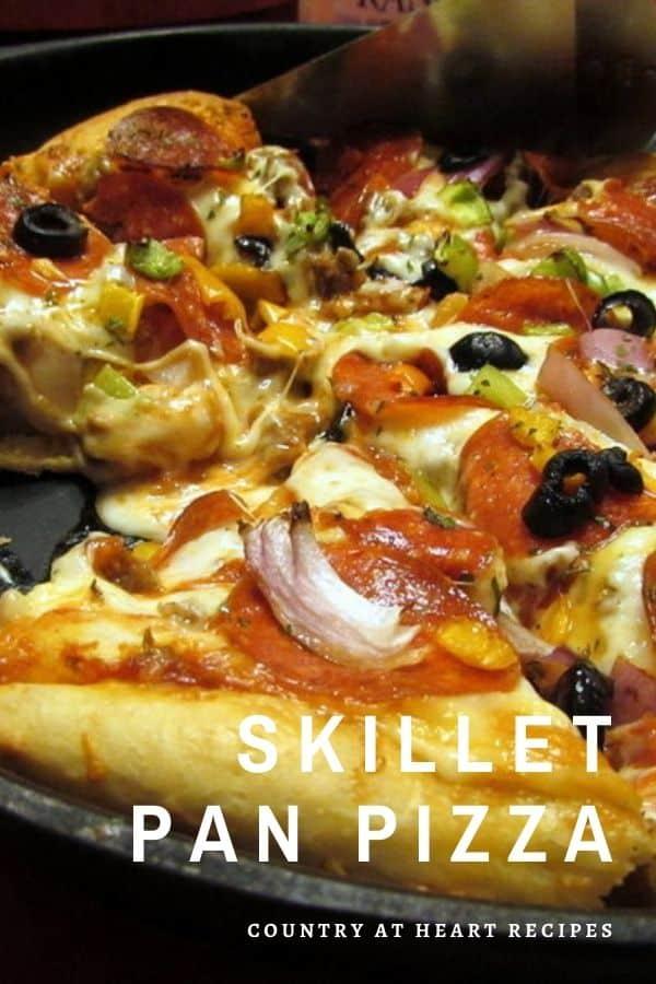 Pinterest Pin - Skillet Pan Pizza