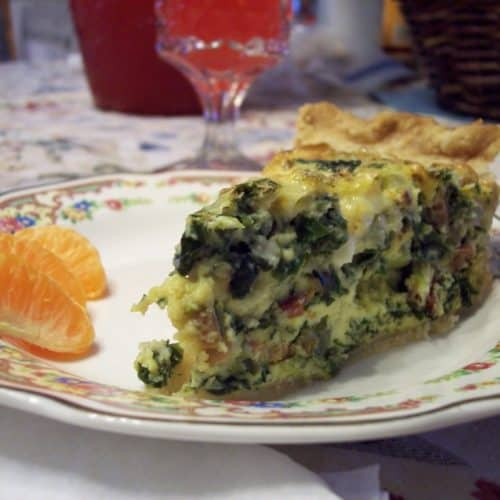 Recipe for Spinach Quiche with Bacon