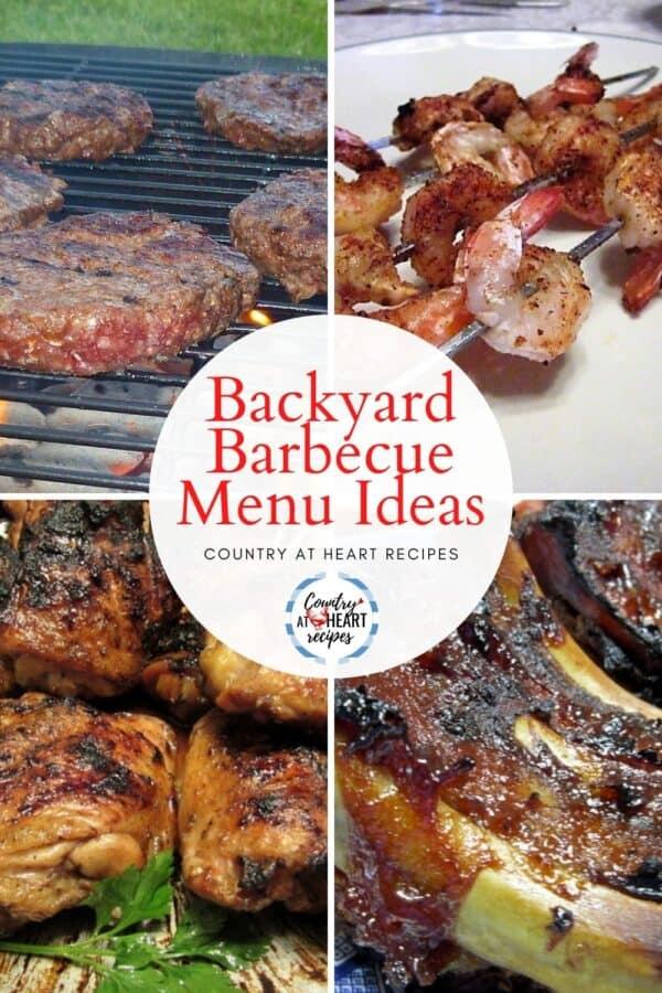 Pinterest Pin - Backyard Barbecue Menu Ideas