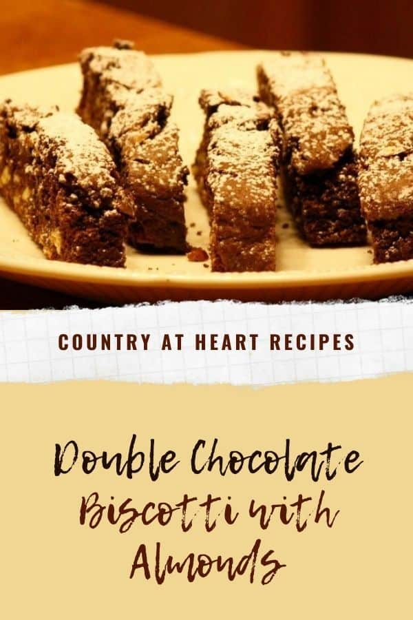 Pinterest Pin - Double Chocolate Biscotti with Almonds
