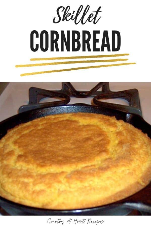 Pinterest Pin - Skillet Cornbread