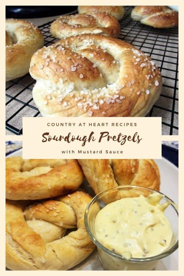 Pinterest Sourdough Pretzels with Mustard Dip
