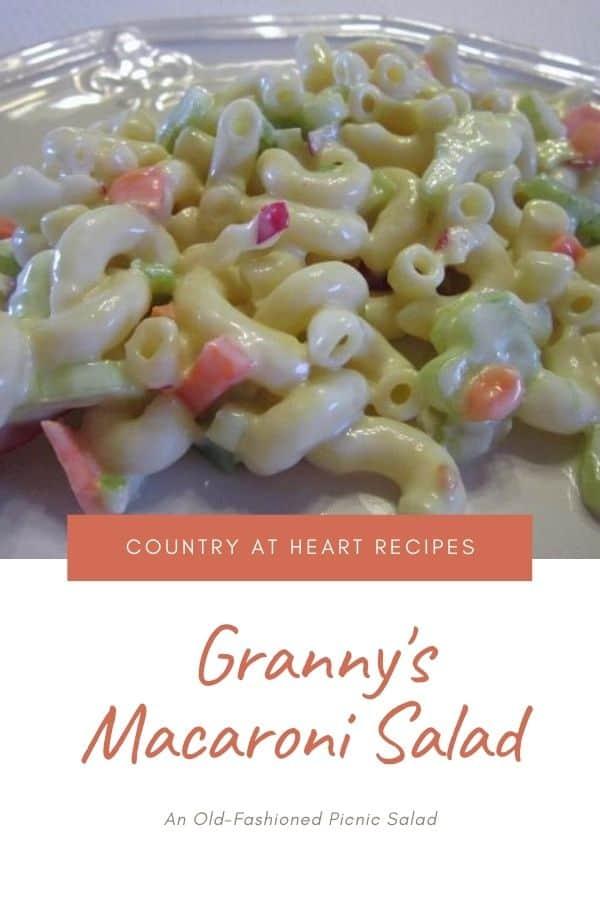 Pinterest Pin - Granny's Macaroni Salad