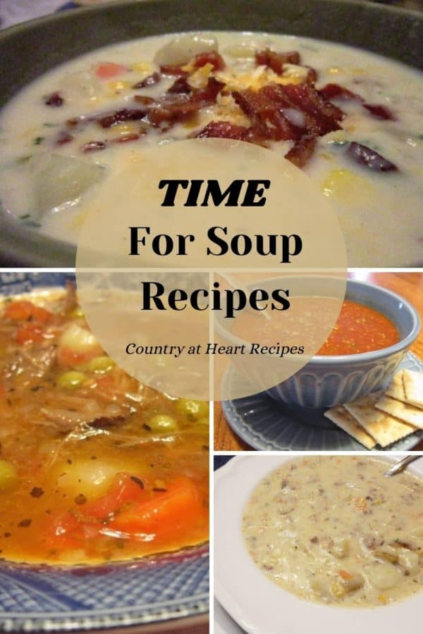 Pinterest Pin - Time for Soup Recipes