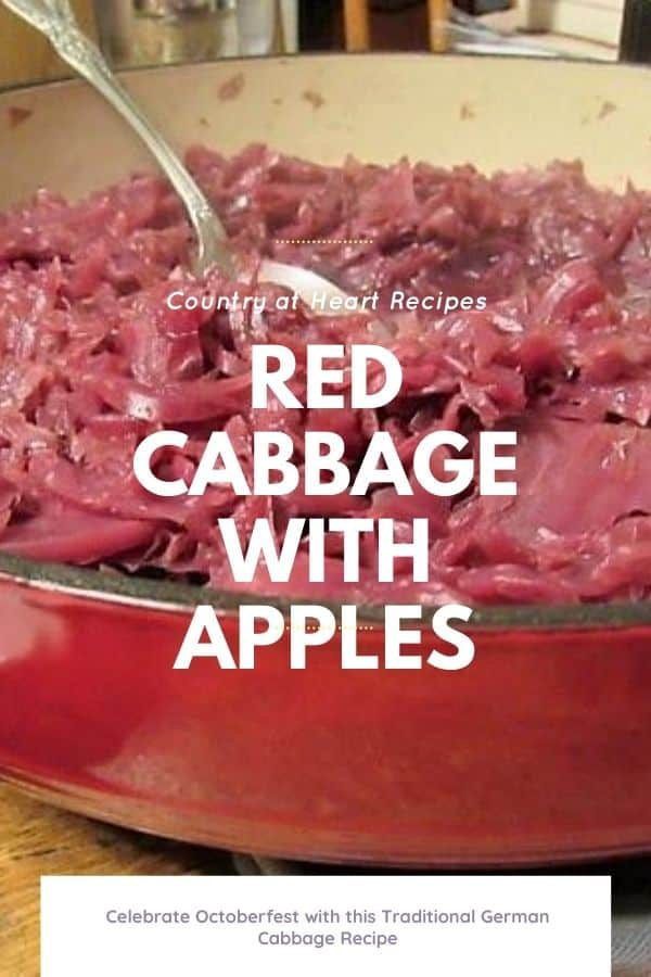Pinterest Pin - Red Cabbage with Apples