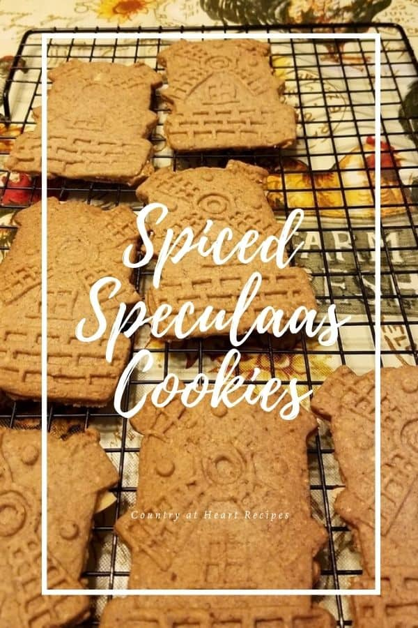 Pinterest Pin - Spiced Speculaas Cookies