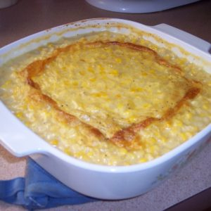 recipe for cheesy corn and macaroni, fourth of july menu ideas