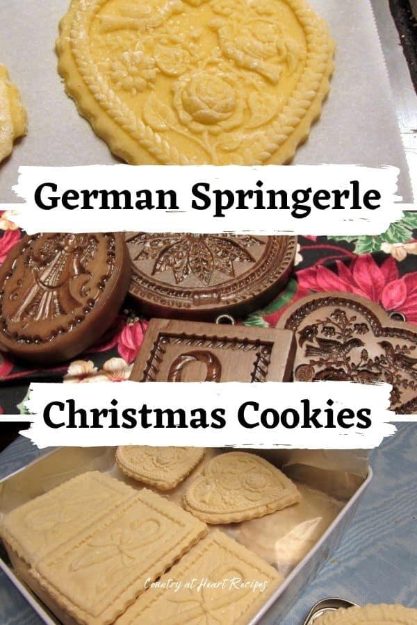 Pinterest Pin - German Springerle Christmas Cookies