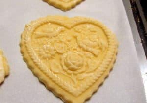 Preparing Springerle Cookies for Baking