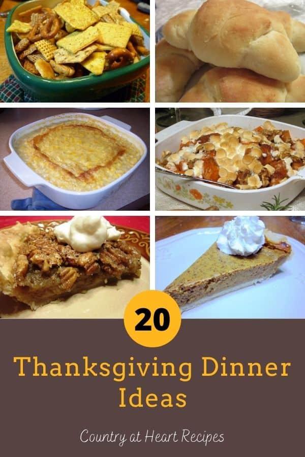 Pinterest Pin - Thanksgiving Dinner Ideas