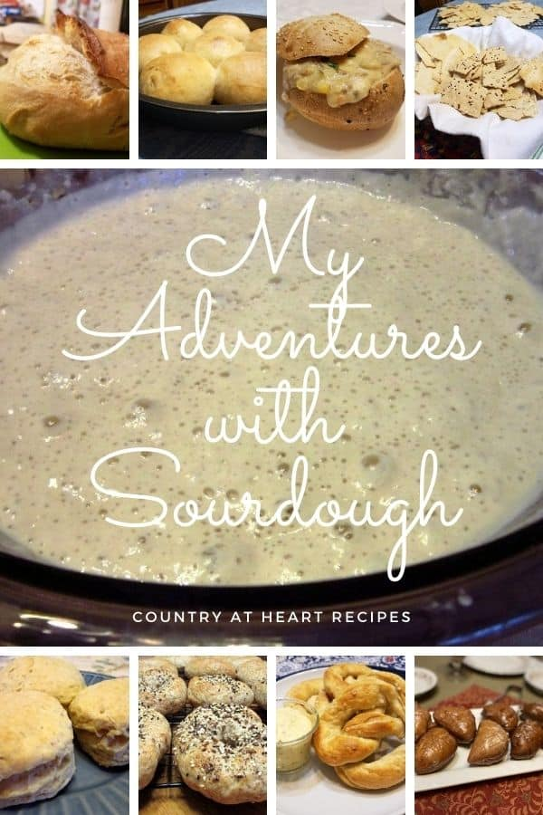Pinterest Pin - My Adventures with Sourdough