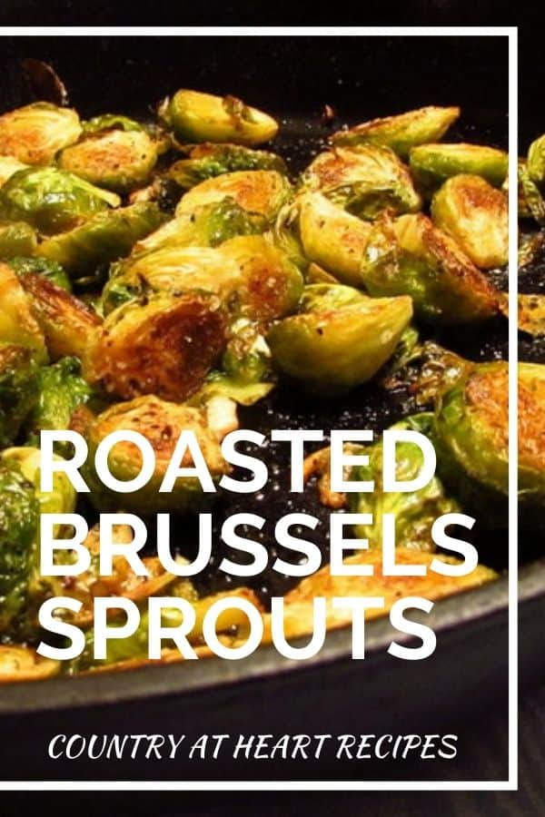 Pinterest Pin - Roasted Brussels Sprouts