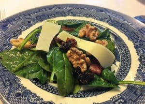 Recipe for Spinach Salad with Fig Dressing