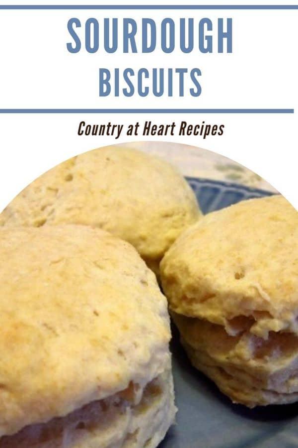 Pinterest Pin - Sourdough Biscuits