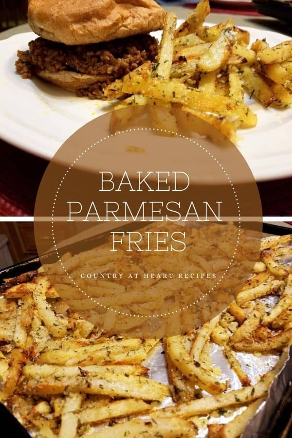 Pinterest Pin - Baked Parmesan Fries