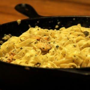 Recipe for Shrimp Scampi with Linguine - Cast Iron Cooking