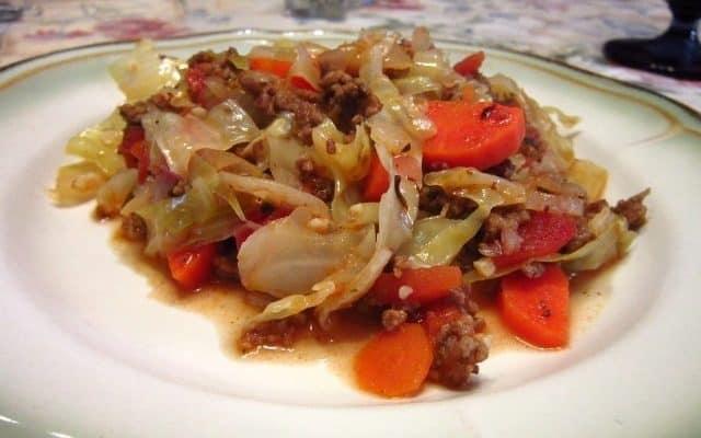 Hamburger Cabbage Skillet