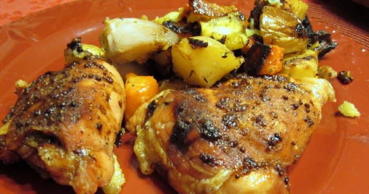 Honey-Mustard Pan Roasted Chicken