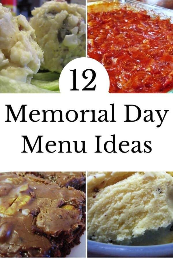pinterest pin memorial day menu ideas