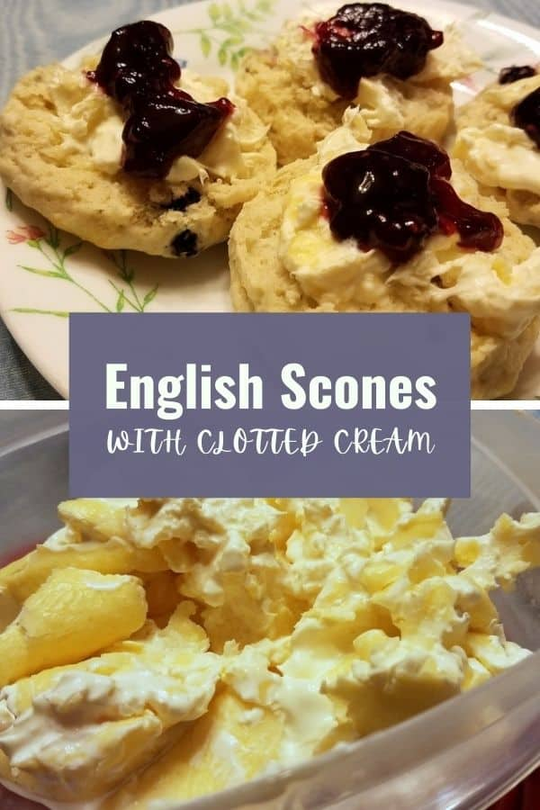 Pinterest Pin - English Scones and Clotted Cream